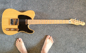 Telecaster with a secret MIDI system